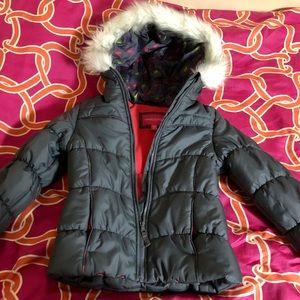 London Fog grey winter faux jacket